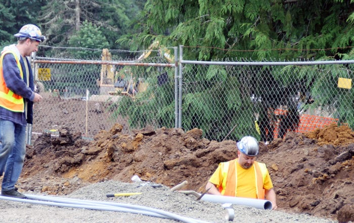 Construction Bond Staging at North Salem High School