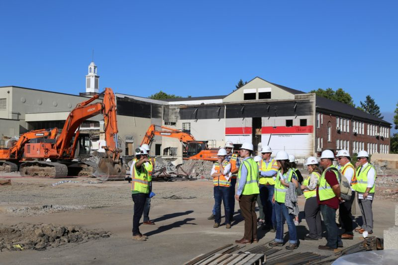 Members of the Community Bond Oversight Committee took a tour of North Salem High School to check out the progress of bond-funded construction.