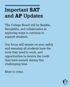 PDF Announcement from the College Board about AP and SAT updates